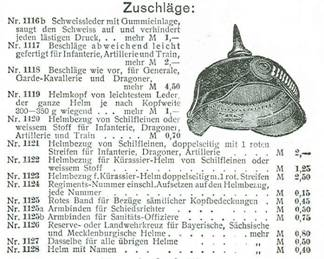 The Relative Cost of a Pickelhaube